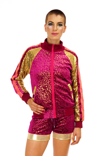 Deluxe Disarray Bomber Jacket - Sparkle Safari