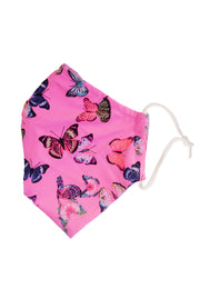 Baby Pink Butterfly print Face Mask Men Woman Adult face covering State of Disarray  (3)
