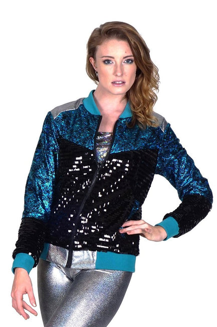 Let's Dance -Teal- Bomber Jacket