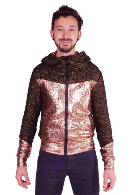 Copper snakeskin - Retro Space Jacket - Unisex
