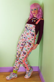 Colourful cotton dungarees by State of Disarray
