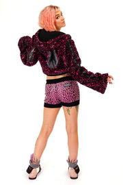 Disco Minx -  Fluffy Jacket - Midnight Misfit