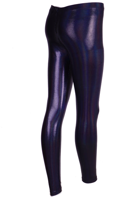 Black Shimmer Petrol Effect - Holographic Leggings