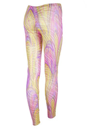 Pastel Swirls & Gold Tiger - Patterned Leggings