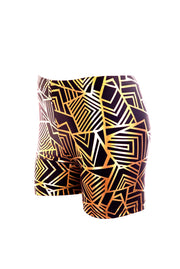 Gold Geo-mess - Hot Pants - Unisex