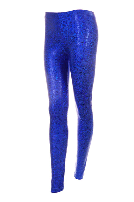 Indigo Blue sparkly spandex leggings by State of Disarray