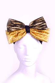 Mega Bow - Double Gold - Headband