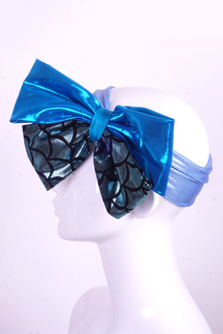 Mega Bow - Ice Mermaid - Headband