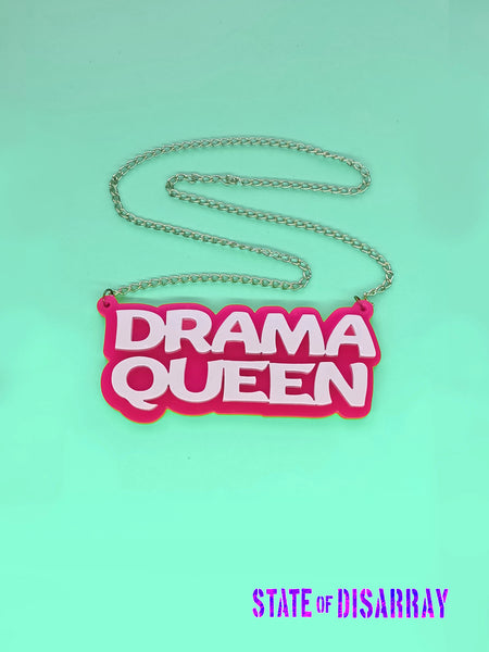 Drama Queen - Statement Acrylic Necklace - State of Disarray