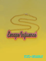 Escape Influence - Choose your colours - Statement Acrylic Necklace