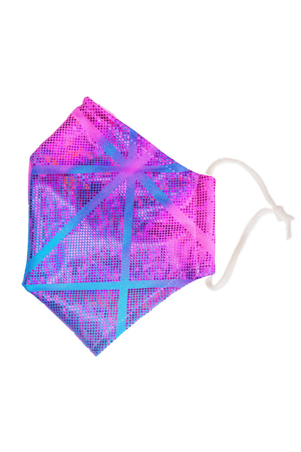 Geomestrick Cosmic Pink & Blue Face Mask Face Covering adult State of Disarray  (1)