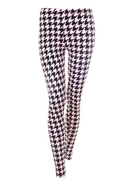 Hounds Tooth - Monochrome - Unisex Leggings