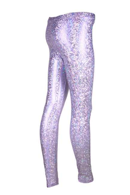 Icicle White - Smashed Sparkles - Holographic Leggings