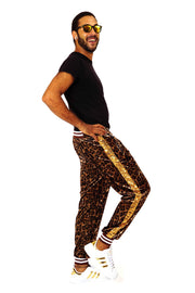 Bling Bling - Gold Leopard Print - Jazzy Joggers