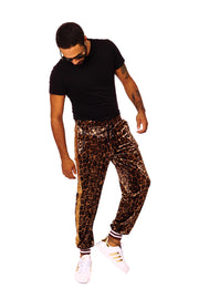 'Bling Bling' - Gold Leopard Print - Jazzy Joggers