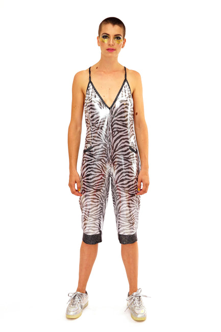 Safari Shimmer - Slinky Playsuit