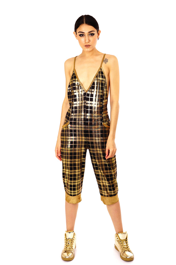 Metallic Gold - Slinky Playsuit