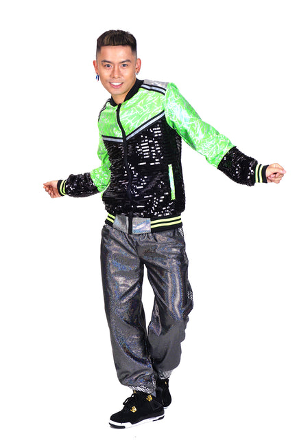 Let's Dance - Acid Green - Bomber Jacket