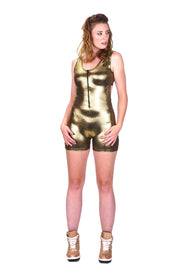 Liquid Gold - Backless Playsuit