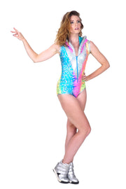 The Metalligator - Hooded Leotard