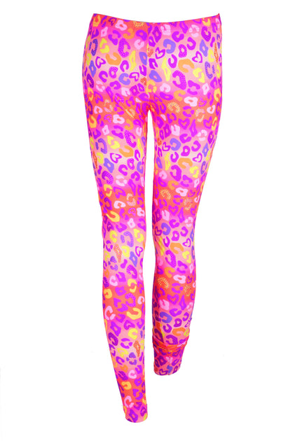 f131052fdc1f1 Neon Pink & Rainbow Leopard - Patterned Leggings – State Of Disarray