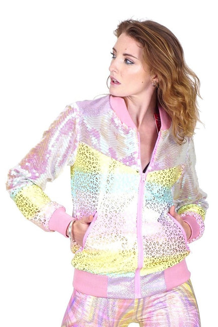 Candy Rainbow Bling - Bomber Jacket
