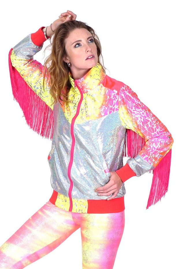 Porrange Cosmic Metaligator  - Fringe Jacket