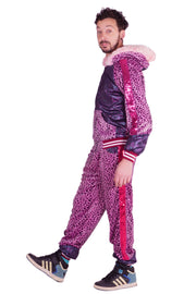 Pink Party Animal - Leopard Print - Tracksuit
