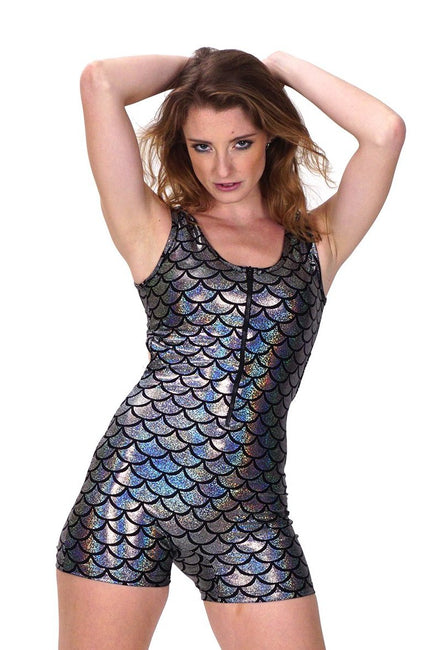 Space Mermaid - Backless Playsuit