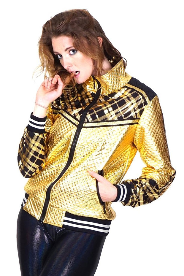 lAST ONE! Size (S) - Beyond Bling - Checkmate - Quilted Jacket