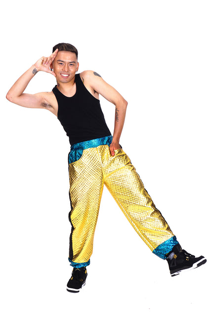 Bling Gold Quilt - Jazzy Joggers - Tracksuit Bottoms