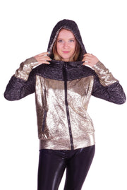 Platinum Snakeskin - Retro Space Jacket - Unisex
