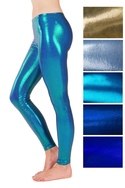 Metallic Sparkles Assorted Colours - Spandex Leggings