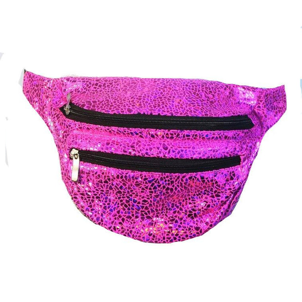 Pink Smashed Seashell - Bumbag / Fanny Pack