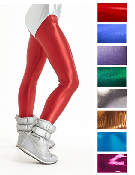 Metallic Assorted Colours - Spandex Leggings