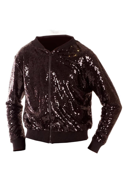 Jet Black - Sequin Bomber