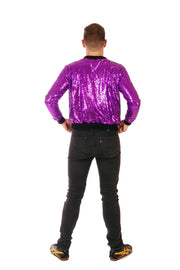 Purple Rain - Sequin Bomber