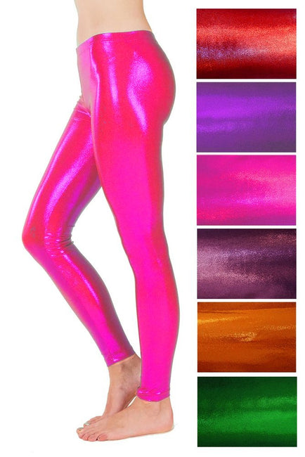Metallic Sparkle Assorted Colours - Spandex Leggings