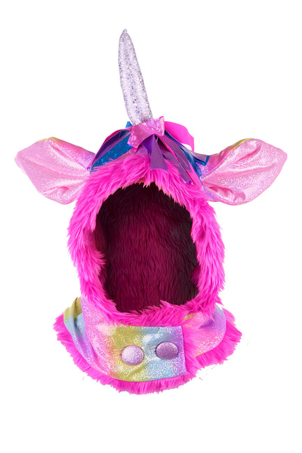 State of Disarray Unicorn hood. rainbow candy glitter colours