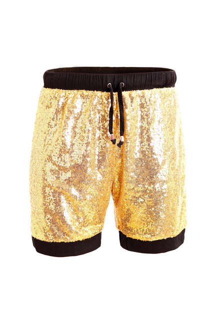 All About That Bling - Gold Sequin Resort Shorts