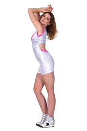 Kinetica - White - Backless Playsuit