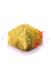 Smashed Sparkles Porange Yellow and orange Adult Face Mask State of Disarray  (1)