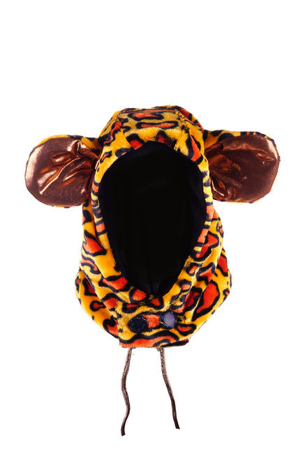 State of Disarray Fluffy Cheetah hood with giant ears