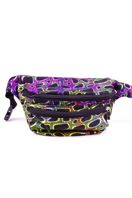 80s pattern.  State of Disarray Metallic colourful Bumbag Fanny Pack Party Utility Bag