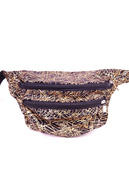 Gold Fireworks State of Disarray Metallic colourful Bumbag Fanny Pack Party Utility Bag
