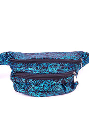 Blue Firework pattern State of Disarray Metallic colourful Bumbag Fanny Pack Party Utility Bag