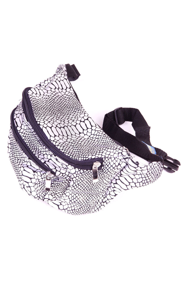Silver Snakeskin State of Disarray Metallic colourful Bumbag Fanny Pack Party Utility Bag