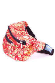 Red & Gold floral  State of Disarray Metallic colourful Bumbag Fanny Pack Party Utility Bag