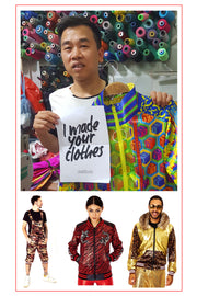 State of Disarray Team Member Mr. Tien holds a Fashion Revolution poster which reads 'I made your Clothes'. Picture taken in Vietnam