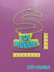 Top Banana - Statement acrylic Necklace - State of Disarray
